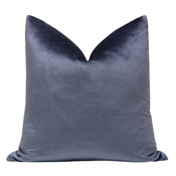 "Silk Velvet // Prussian Blue - 18"" X 18"" - Little Design Company"