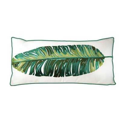 Drucilla Banana Leaf Palm Embroidered Outdoor Throw Pillow - Wayfair