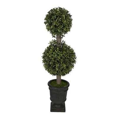 Artificial Boxwood Double Ball Topiary in Urn - Wayfair