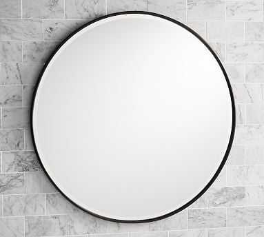 """Vintage Round Mirror, 30"""", Bronze - Pottery Barn"""
