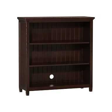 Beadboard 3-Shelf Bookcase, Dark Espresso - Pottery Barn Teen