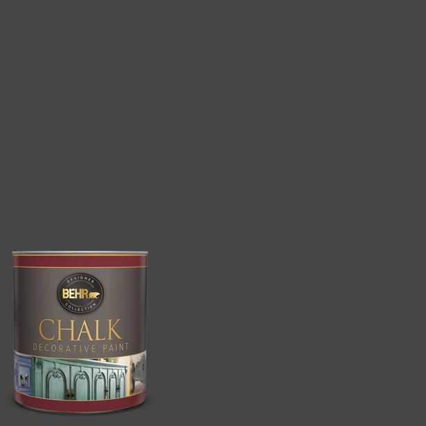 BEHR 1 qt. #PPU26-23 Black Boudoir Interior Chalk Finish Paint - Home Depot