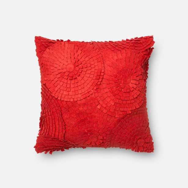"""PILLOWS - RED - 18"""" X 18"""" Cover w/Down - Loma Essentials"""