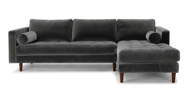 Sven Shadow Gray Right Sectional Sofa - Article