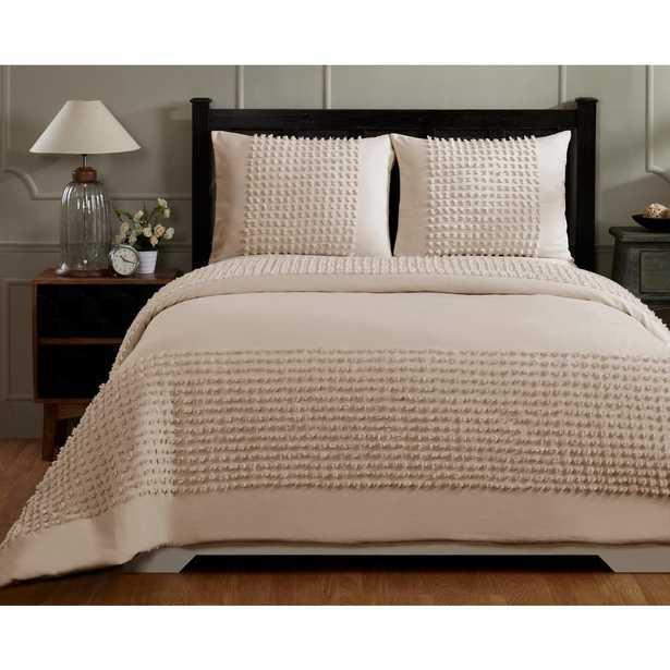 Olivia Light Beige Queen/Full Comforter - Home Depot