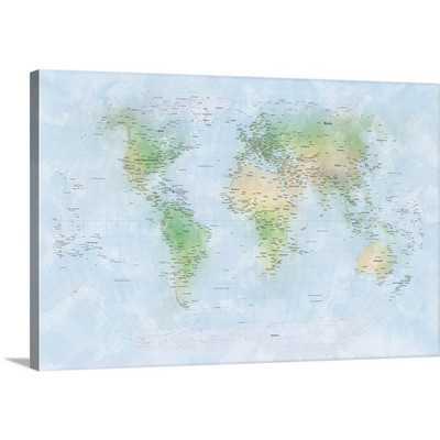 'Traditional World Map' by Michael Tompsett Graphic Art Print - Wayfair