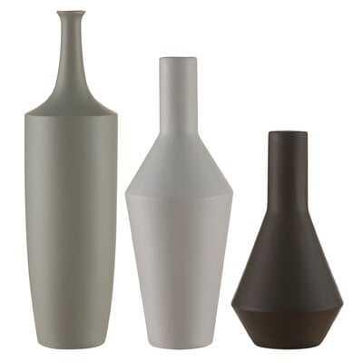 Charlbury Bottles, Set of 3 with Glazed Ceramic Finish - Wayfair