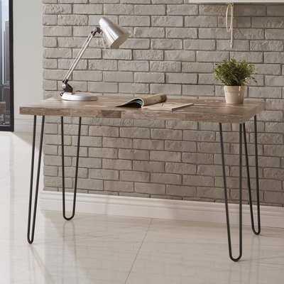 Giselle Desk with Hairpin Metal Legs - Wayfair