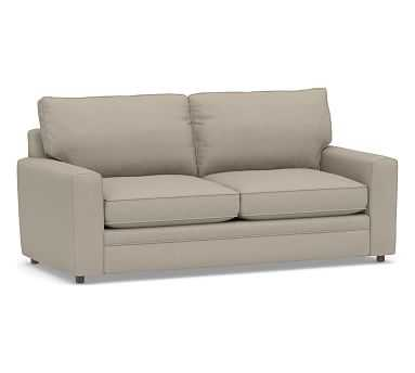 Pearce Square Arm Upholstered Sofa, Down Blend Wrapped Cushions, Performance Brushed Basketweave Sand - Pottery Barn