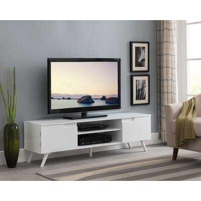 Haigler White Modern White Entertainment Center for TVs up to 50 - Wayfair