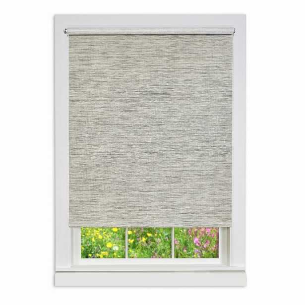 Achim Heather Gray Cordless Paper Privacy Roller Shade - 43 in. W x 72 in. L - Home Depot