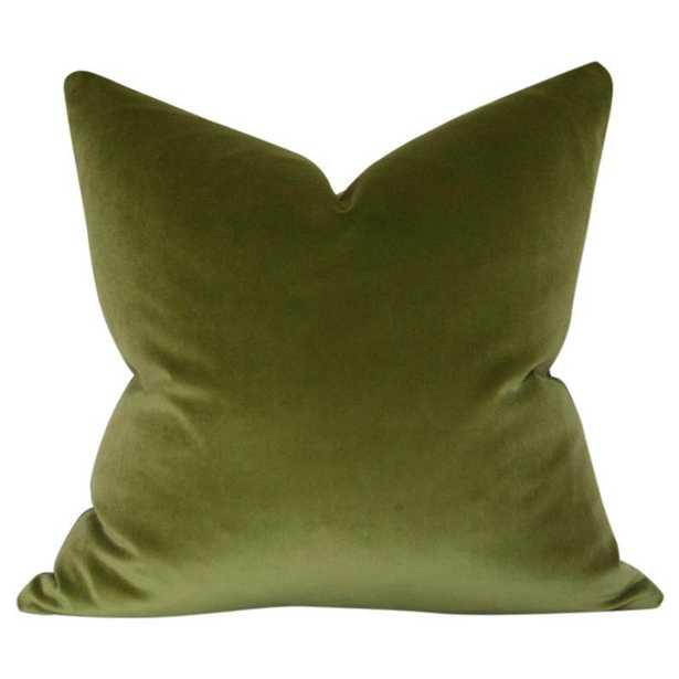Olive Green Velvet - 11x19 pillow cover - Arianna Belle