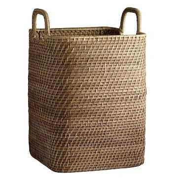 Modern Weave Handled Basket, Natural - West Elm