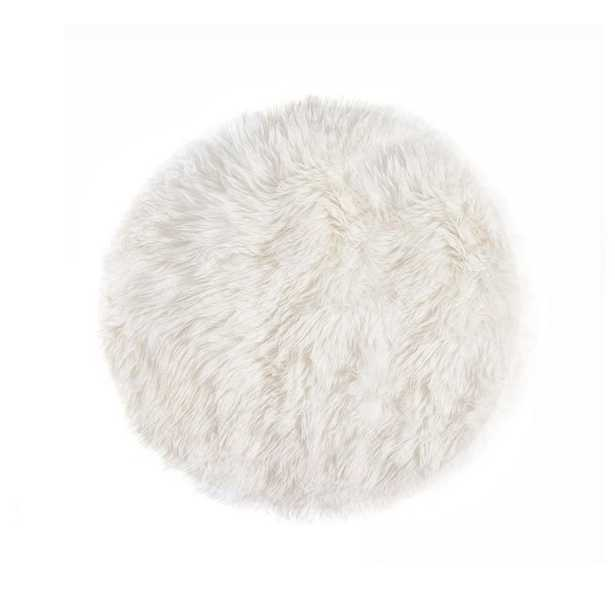 Lifestyle Group Distribution New Zealand Sheepskin Natural 5' Round Area Rug - Home Depot