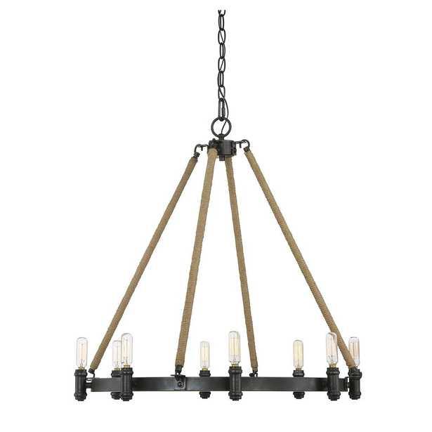 Filament Design 8-Light Rustic Black Chandelier - Home Depot