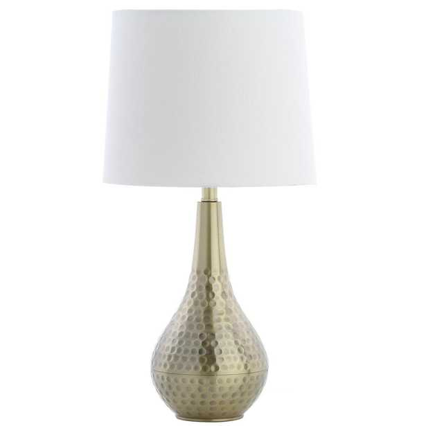 Safavieh Medford 18.75 in. Brass Gold Table Lamp - Home Depot