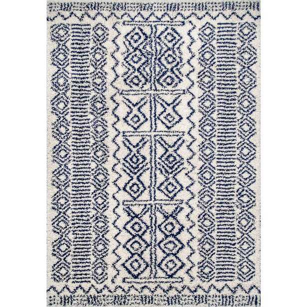 nuLOOM Hurley Tribal Shaggy Navy (Blue) 5 ft. x 8 ft. Area Rug - Home Depot