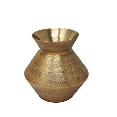 "Kristina Etched Aluminum Table Vase - 8""H - Wayfair"