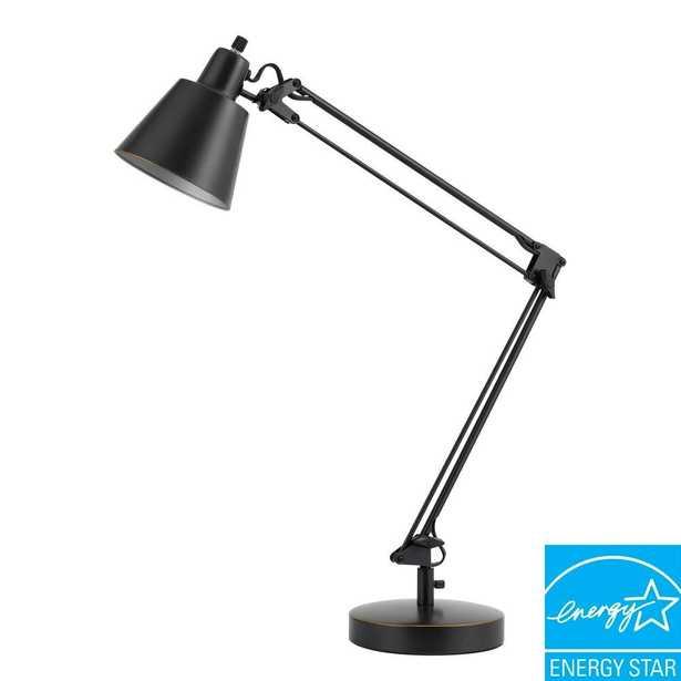 CAL Lighting 27 in. Udbina Metal Desk Lamp in Dark Bronze - Home Depot
