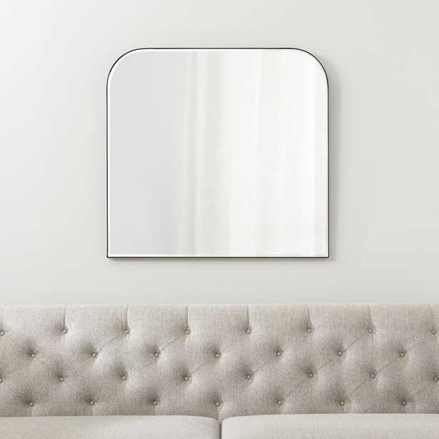 Edge Black Arch Wall Mirror - Crate and Barrel