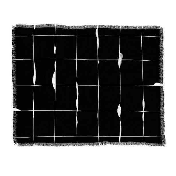 "Iveta Abolina Between the Lines Black Throw Blanket - 50"" x 60"" - Wander Print Co."