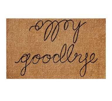 "Hello/Goodbye Door Mat, 22X36"" - Pottery Barn"