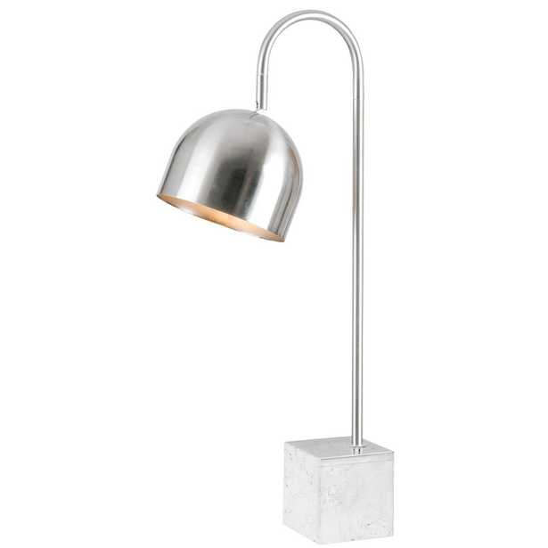 Kenroy Home Maverick 27 in.ch Chrome Desk Lamp with marble base - Home Depot