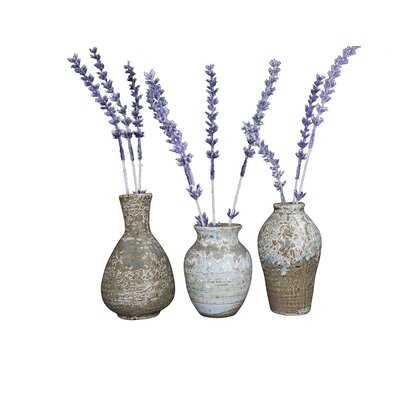 Morganna 3 Piece Stoneware Table Vase Set - Wayfair