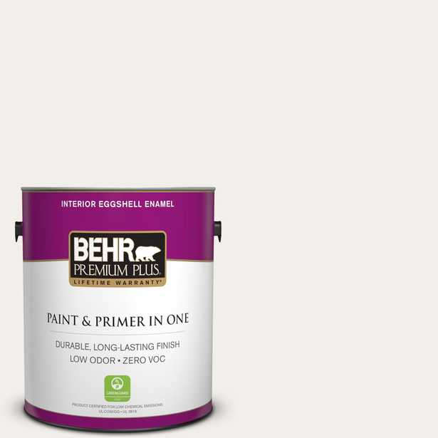 BEHR Premium Plus 5 gal. #PWN-15 Silk Pillow Eggshell Enamel Low Odor Interior Paint and Primer in One, Whites - Home Depot