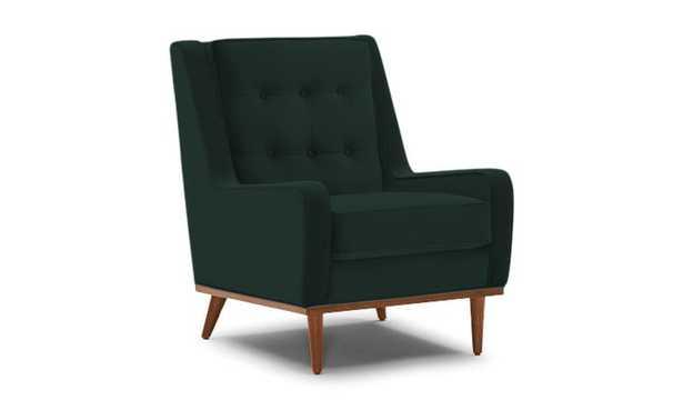 Green Brice Mid Century Modern Chair - Royale Evergreen - Medium - Joybird