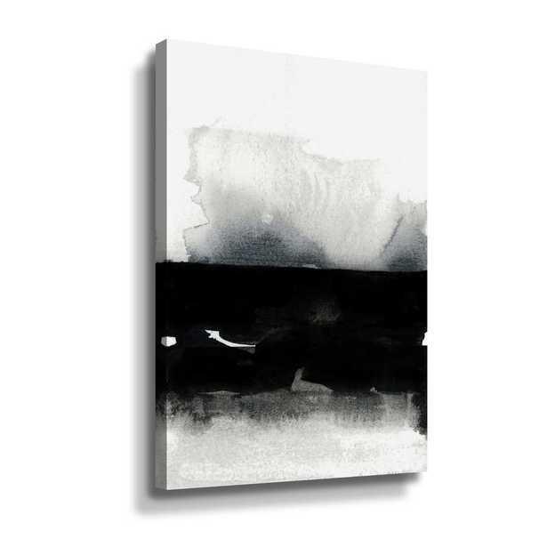 'BW 01' by Iris Lehnhardt Canvas Wall Art, Black - Home Depot