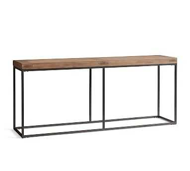 """Malcolm 71"""" Wood Console Table, Glazed Pine - Pottery Barn"""