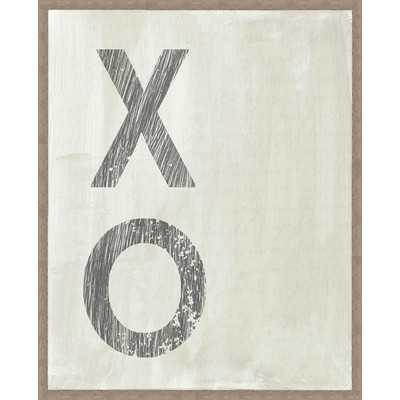 XO Framed Textual Art - Wayfair