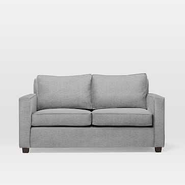 Henry Basic Sleeper Sofa, Twin, Deco Weave, Feather Gray - West Elm