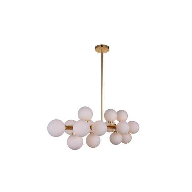 CWI Lighting Arya 16-Light Satin Gold Chandelier - Home Depot