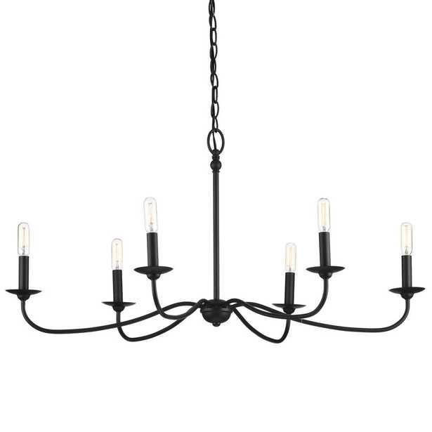 Progress Lighting Pacolet 6-Light Textured Black Chandelier - Home Depot