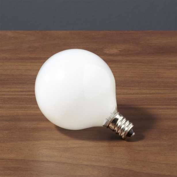 frosted candelabra 25W bulb - CB2