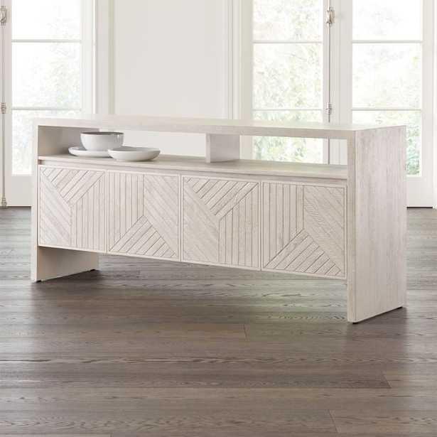 Dunewood Whitewashed Sideboard - Crate and Barrel