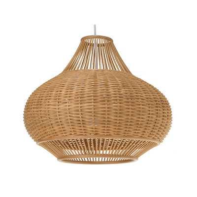 Wicker Pear 1-Light Pendant Lamp - AllModern