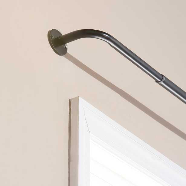 Best Home Fashion Adjustable 48 in. - 84 in. Metal Wraparound Rod in Black - Home Depot