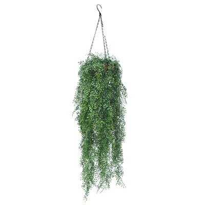 Outdoor Artificial Fern Plant Hanging Basket - Wayfair