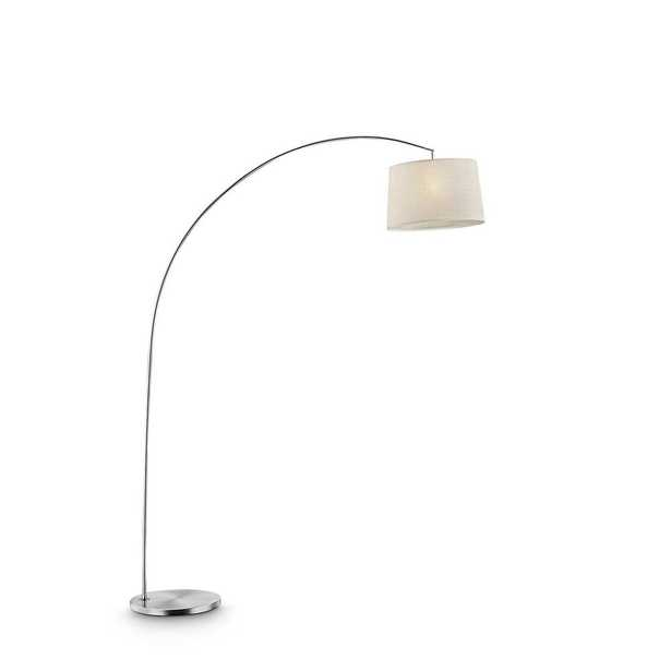 ORE International Oma 84.5 in. Beige Shade Silver Arch-Floor Lamp - Home Depot