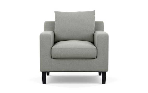Sloan Petite Chair with Ecru Fabric and Painted Black legs - Interior Define