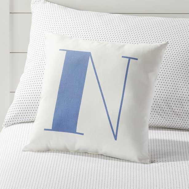 N Alphabet Throw Pillow - Crate and Barrel