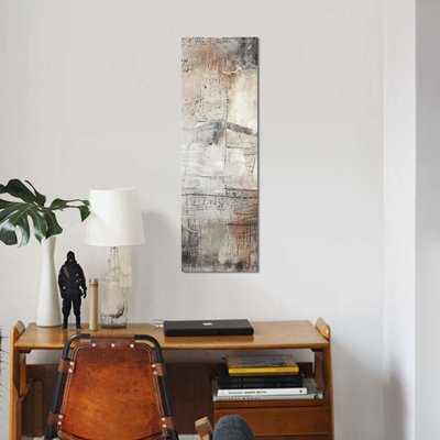 'Black, White & Bronze I' Print on Canvas - Wayfair