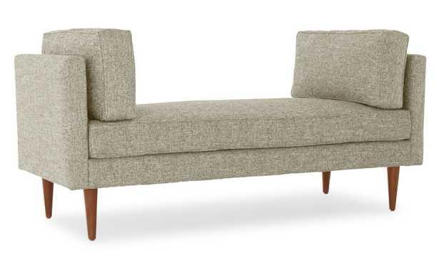 Green Preston Mid Century Modern Bench - Nova Olive - Medium - Joybird