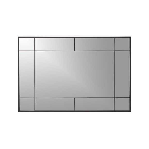 Payne Black Window Wall Mirror - Crate and Barrel