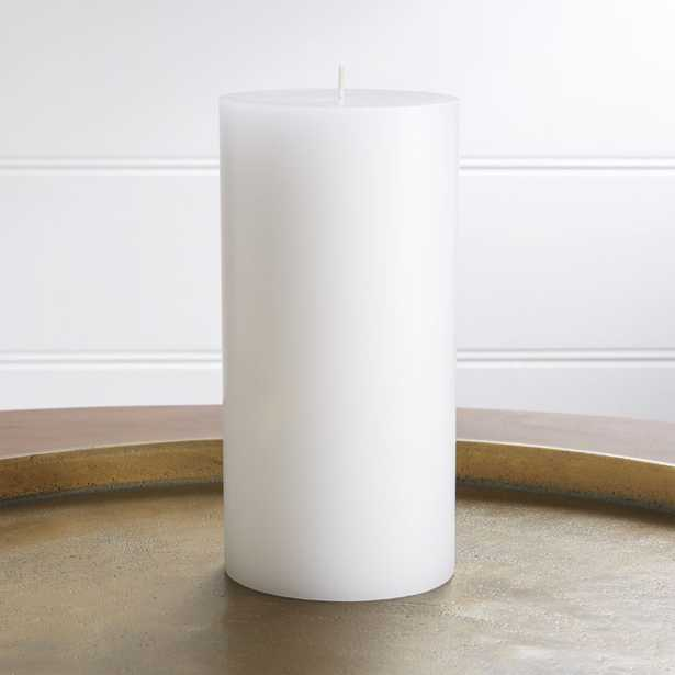 """4""""x8"""" White Pillar Candle - Crate and Barrel"""