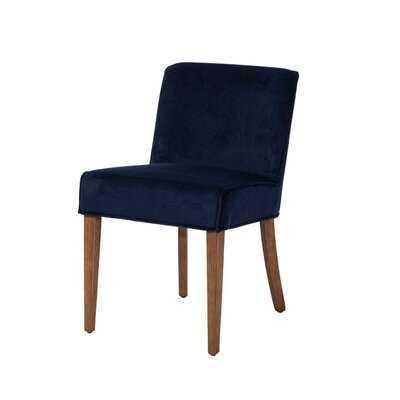Reimels Dining Chair in Navy Blue Velvet - Wayfair