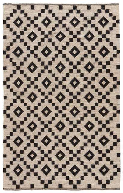 Croix Handmade Geometric Black/ White Area Rug (5' X 8') - Collective Weavers
